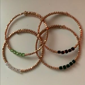4 birthstone wire Keep Collective bracelets